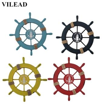VILEAD 11 ''עץ ים תיכוני הגה צלמיות עבור קיר מודרני בית תפאורה קישוט מלאכות עץ קיר קישוט לחדר ילדים