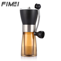 Fimei Manual Ceramic Coffee Grinder Washable Ceramic Core Stainless Steel Home Kitchen Mini Manual Hand Coffee