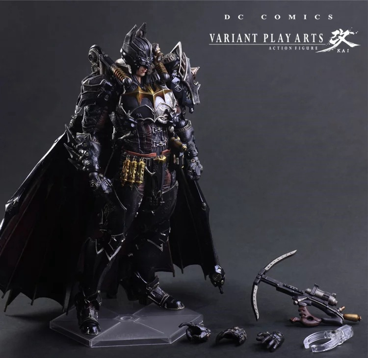 Play Arts Kai Bat Man Steam Punk Bat-man Figure Steampunk Bruce Wayne 27cm Variant Play Art KAI PVC Action Figure Toys Kid Gift the avengers infinity war batman arkham knight play arts kai 27cm bruce wayne dc comics pvc action figure model toys l1060