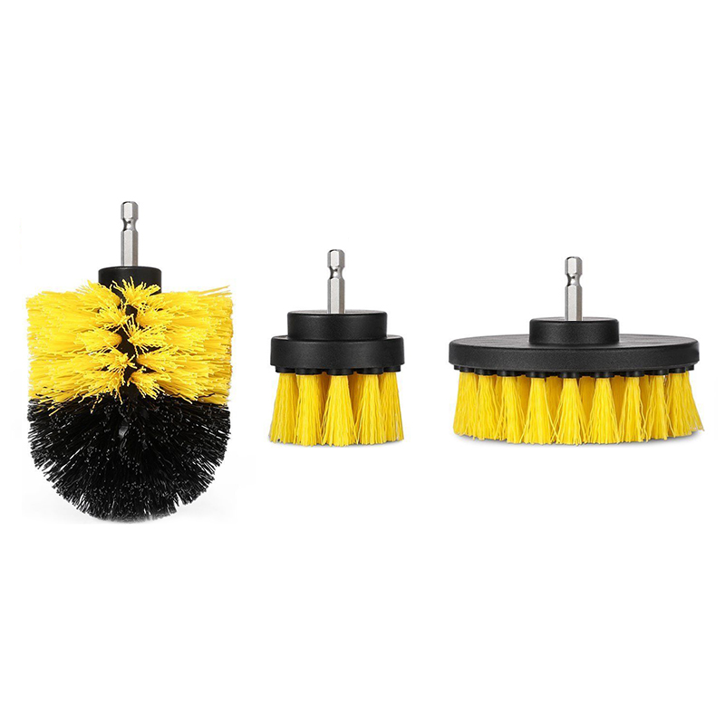 3Pcs/Set Drill Power Scrub Clean Brush Kit Tub Cleaner Scrubber Cleaning Brushes for Floor Tile Grout Car 2018ing