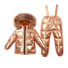 Russian Winter Baby Snowsuits 2018 Winter Suits Boys Girls Duck Down Coats  Overalls Clothing Set Luxury 92bfadd83e2f