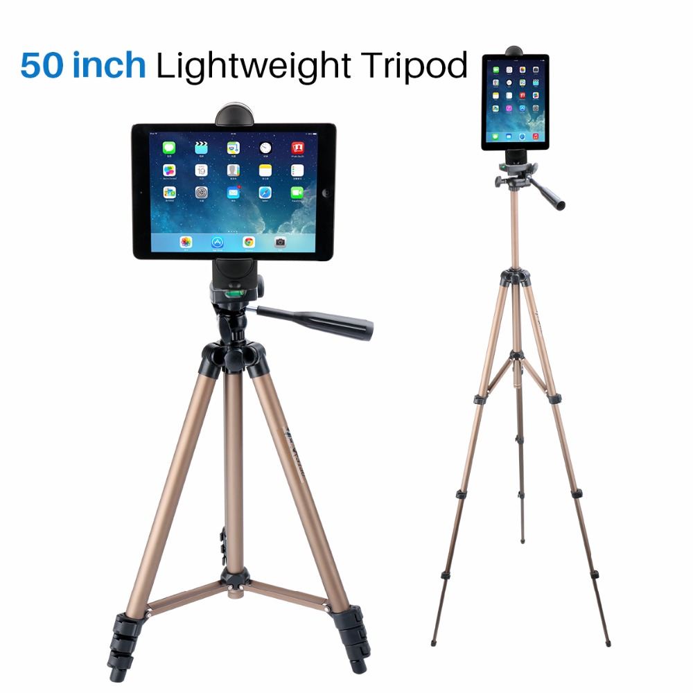 Ulanzi Tablet <font><b>Stand</b></font> <font><b>Tripod</b></font> with <font><b>Phone</b></font> Tablet Clamp Holder Mount Adapter for iPad/iPad Mini/iPad Air Most Tablets 5-12 inch size image