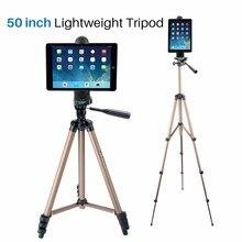 Ulanzi tablet suporte tripé com tablet braçadeira titular clipe adaptador de montagem para ipad pro/ipad mini/ipad ar a maioria das tabuletas 5 12 polegadas