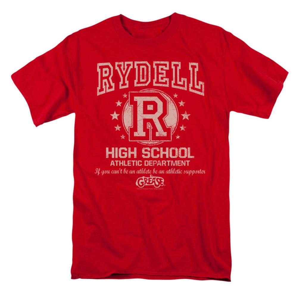 Grease Mens Rydell High T-shirt Red Rockabilia