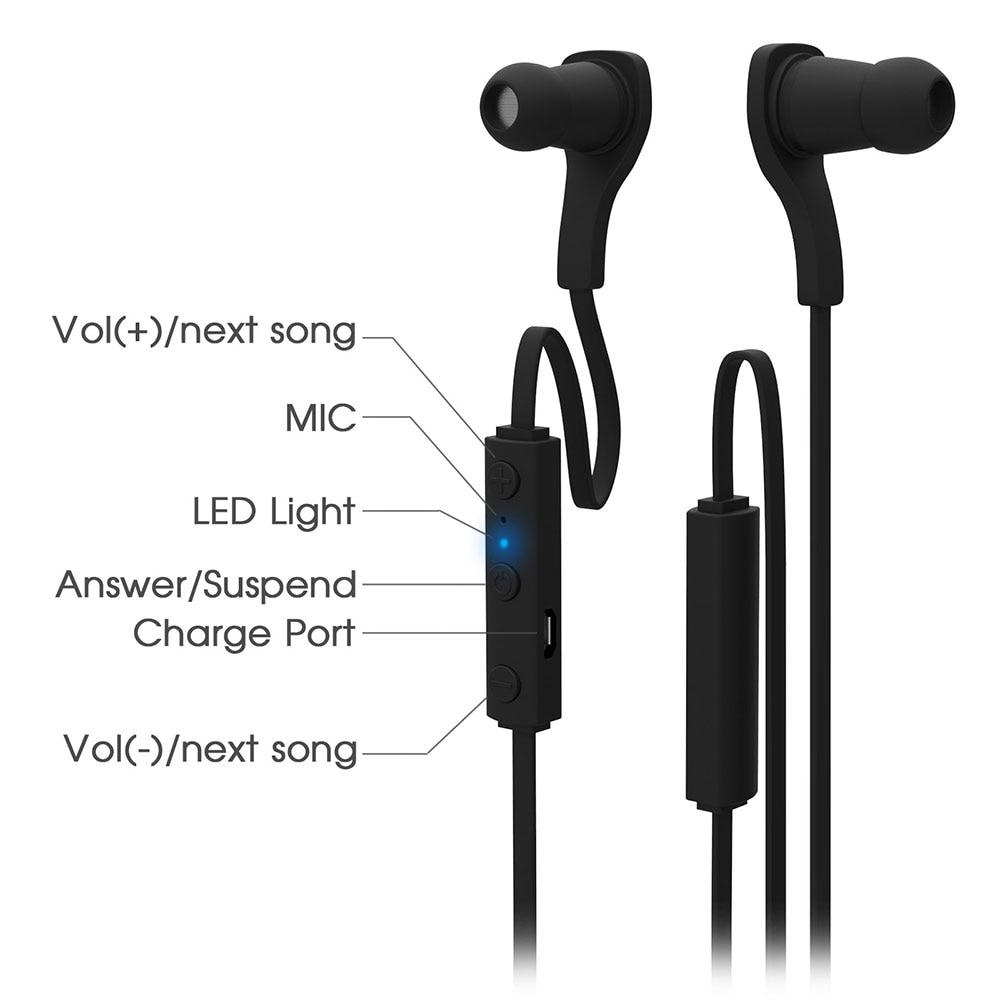 BT-H06 Spor Mikrofon ile Bluetooth kulaklık kulaklık kulaklık Spor - Taşınabilir Ses ve Görüntü - Fotoğraf 4
