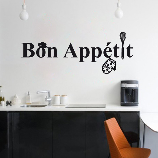 French Cuisine Bon Appetit Vinyl Wall Sticker Mural Wall Decals Art Kitchen Tile Wallpaper Home Decor House Decoration 22x59cm & French Cuisine Bon Appetit Vinyl Wall Sticker Mural Wall Decals Art ...