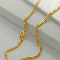 BEST AU750 Yellow Gold Necklace / Perfect Foxtail Chain 2.0g / 18 L