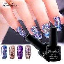 Saroline 3D Diamond Glitter UV Nail Gel Polish Soak Off Led UV Gel Nail Polish skyblue With Base Top Gel Polish Need UV Lamp