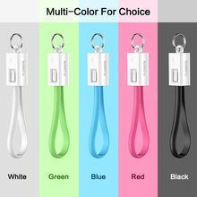 Keychain USB Phone Cable Accessories for iPhone and Samsung