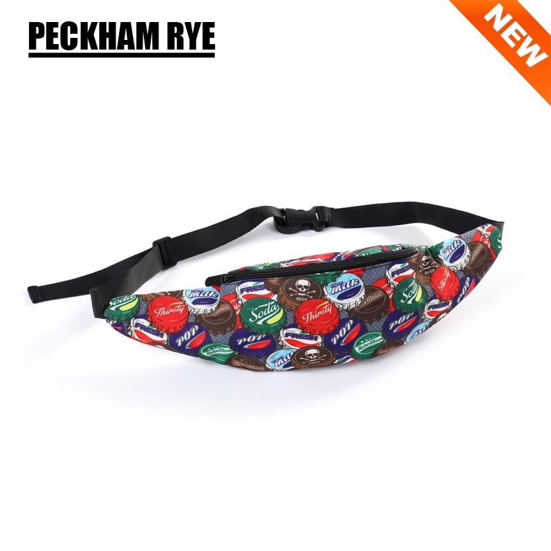 NEW Beer bottle cap 3D printing Unisex women's waist bag female belt bag mens fanny packs for travel money phone bags