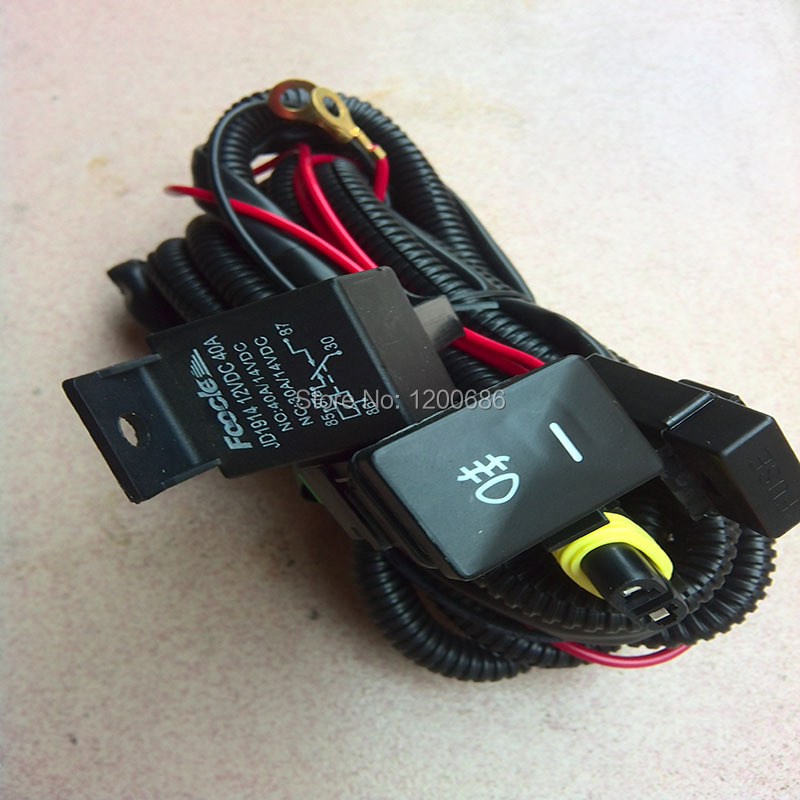 Auto light wire harness with switch for Toyota Corolla 2005