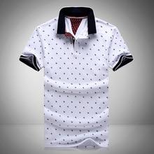 polos mens printed polo shirts 100% cotton short sleeve camisas polo casual stand collar male polo shirt 4xl eda234