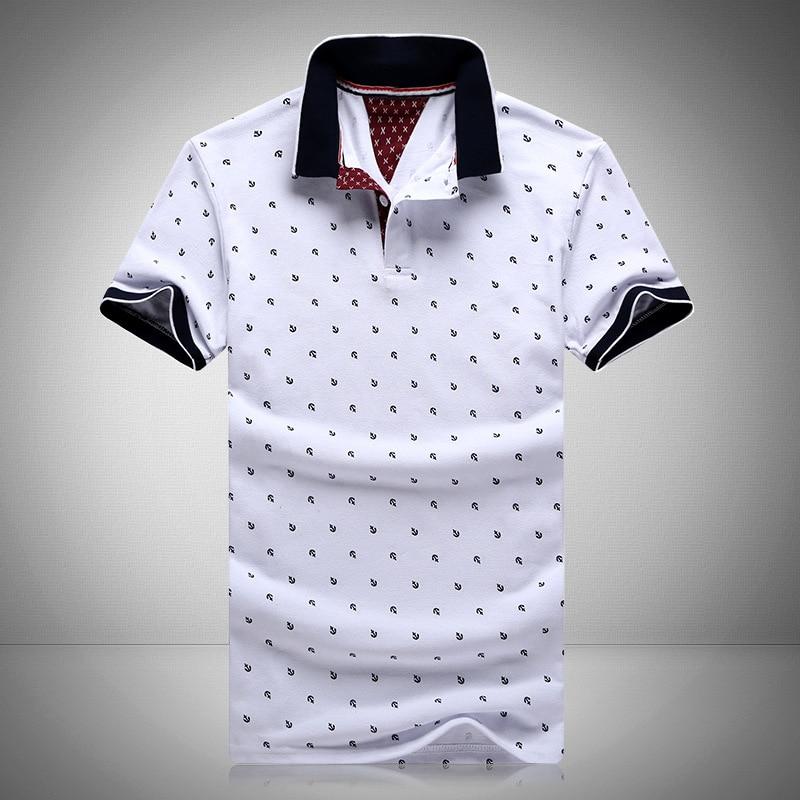New Brand Polos Mens Printed Polo Shirts 100 Cotton Short