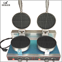 XEOLEO Двойные головки вафельница машина 220 В электрическая не палочка для мороженого вафельный конус пекарь вафельный торт мороженое конус