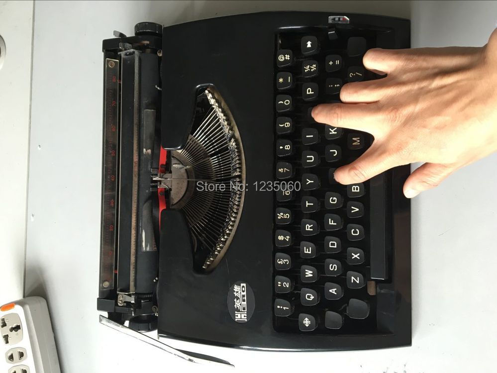 Typewriter prop real life escape room game prop magic prop for Escape game diy