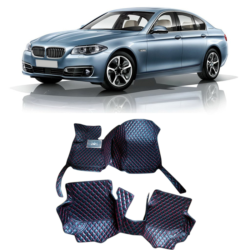 цена Car Interior Accessories Leather Floor Mats Carpets Pad For BMW 5 Series F10 2010 2011 2012 2013 онлайн в 2017 году