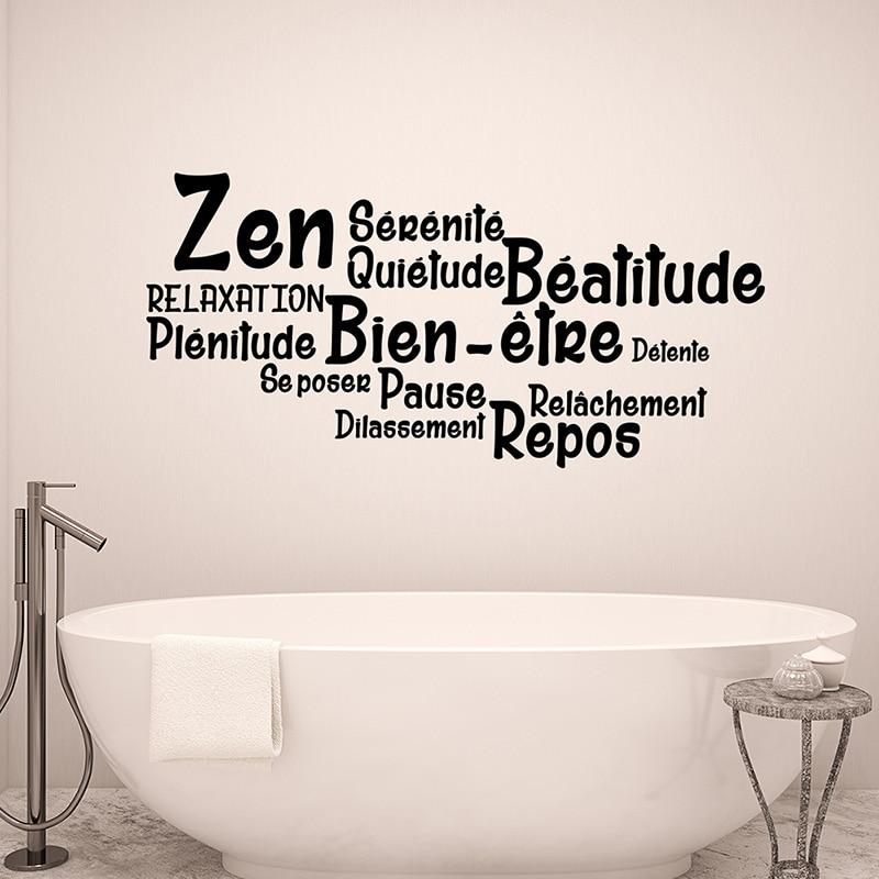 Stickers Salle De Bain Citation Zen Bien Etre Repos Vinyl Wall