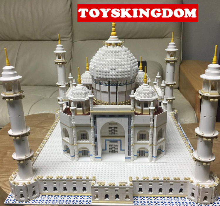 Hot World famous Architecture Taj Mahal India city building block model bricks 10189 collection toys for adult children gifts mr froger loz diamond block easter island world famous architecture diy plastic building bricks educational toys for children
