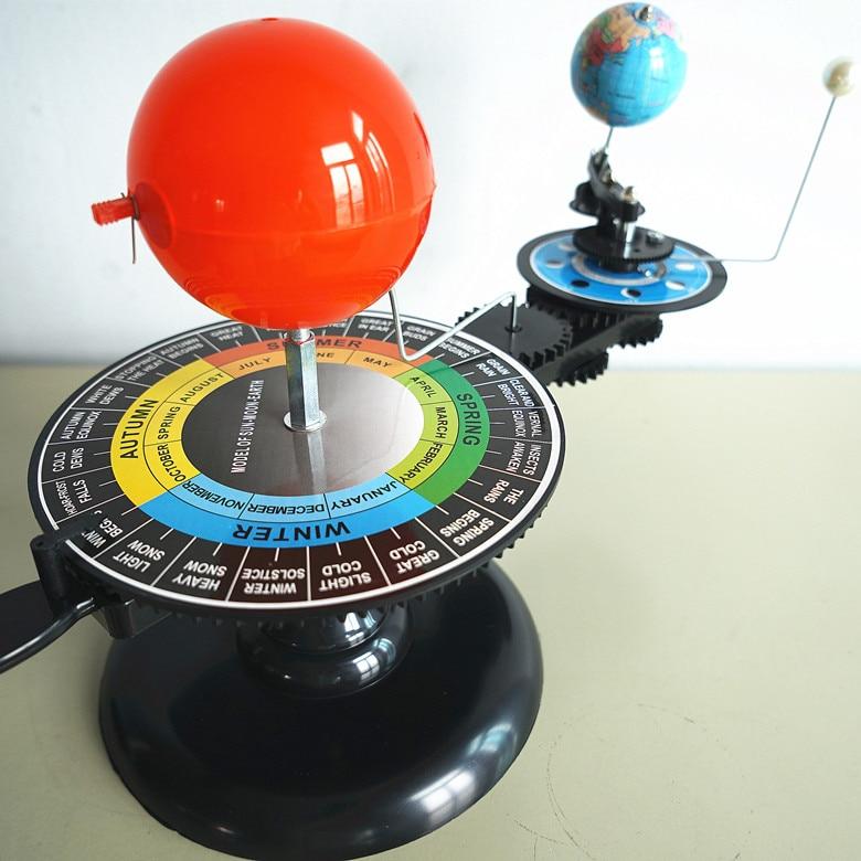 Ofis ve Okul Malzemeleri'ten Eğitim Ekipmanları'de Öğrenci Planetarium Üç Küre Güneş Toprak Ay Modeli Öğretmek Eğitim Coğrafya Oyuncak Harita terraqueo Plaj Topu Feida title=