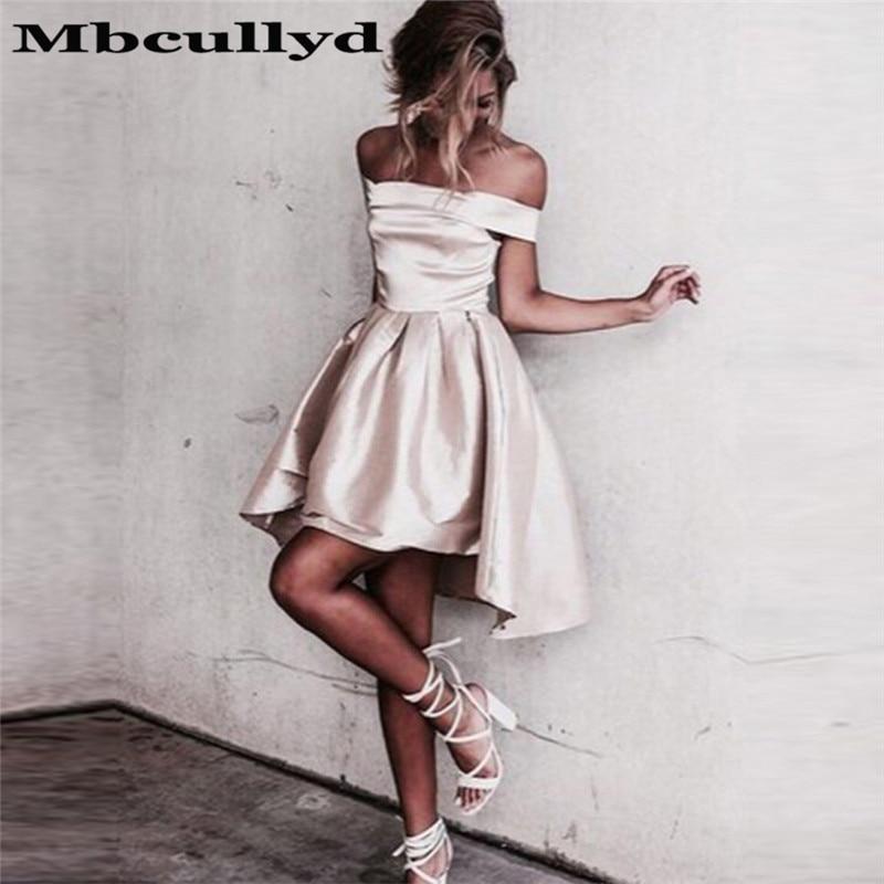 Mbcully Strapless Satin Ruffles Homecoming Dresses 2020 Vestidos De Graduacion Short Prom Dress Special Occasion Graduation Gown