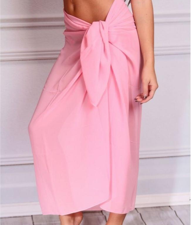 PLAIN LARGE Chiffon Sarong Beach Dress Wrap Summer Swimwear Cover Up 180 X 100cm
