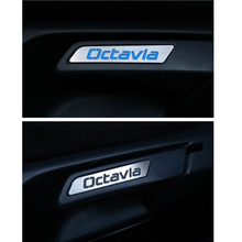 Etiqueta de assento de aço inoxidável, etiqueta, chave de elevação, adesivo decorativo adequado para skoda octavia, acessórios, GR-H1