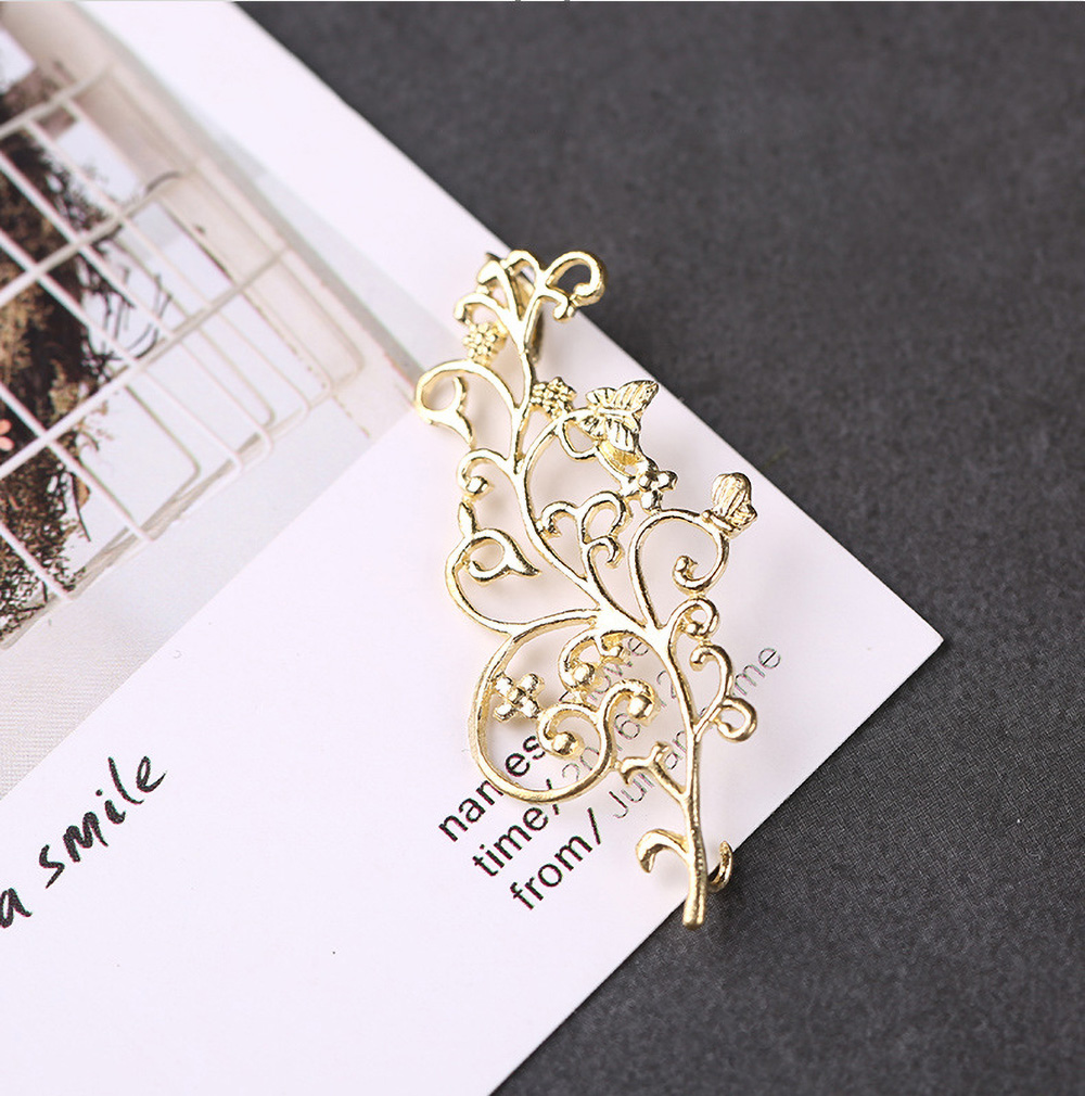 FLORAL SHAPES Silver or Gold Plated Charms Pendant Bracelet DIY Making