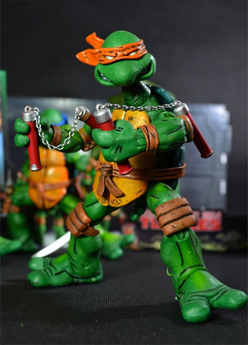 Ninja Turtles poupée haute qualité de Bande Dessinée série western anime caractères Chiffres jouets pour les enfants