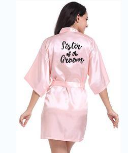 Image 5 - Personalisierte gedruckt Braut Partei Roben Brautjungfern mutter der braut bräutigam maid of honor Hochzeit Tag geschenk satin robe