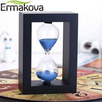 NEO 60 Minutes White Wooden Sand Timer Sandglass Hourglass Sand Clock Timer Clock Ornaments Kitchen Office