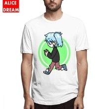 Male Sally Face t shirt Looking For Spooks T-shirt Retro Stylish Camiseta Round Neck Plus Size Camiseta stylish round neck embroidery hole t shirt