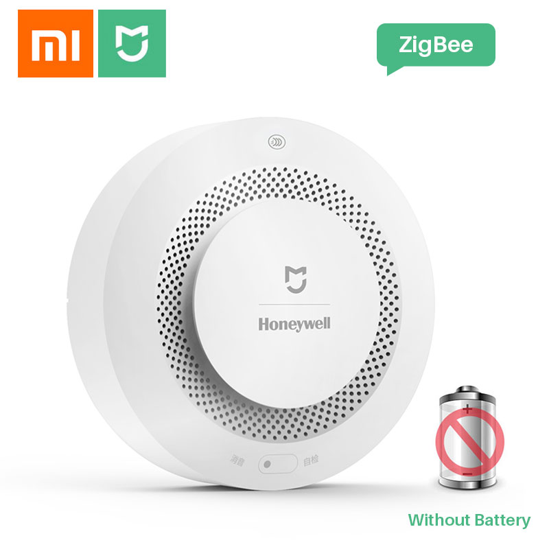 Xiaomi Mijia Honeywell Detector de humo Detector de alarma de incendios Sensor de seguridad inteligente para el hogar con Xiaomi Gateway 2 a través del control de la aplicación Digitalizador de pantalla táctil de repuesto para Honeywell Dolphin 60S