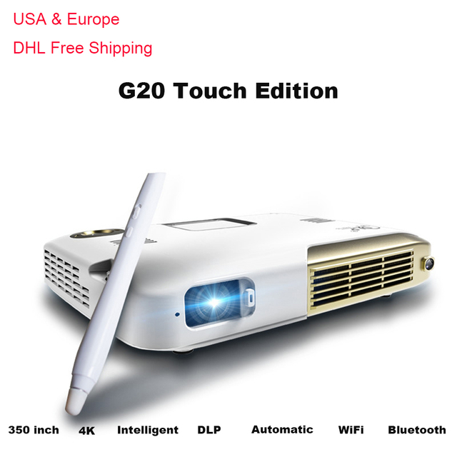 G20 Android Smart Projector HD1080P LED Home Business Proyector 4K DLP Intelligent Handwriting Touch Mini Led Projector with Pen