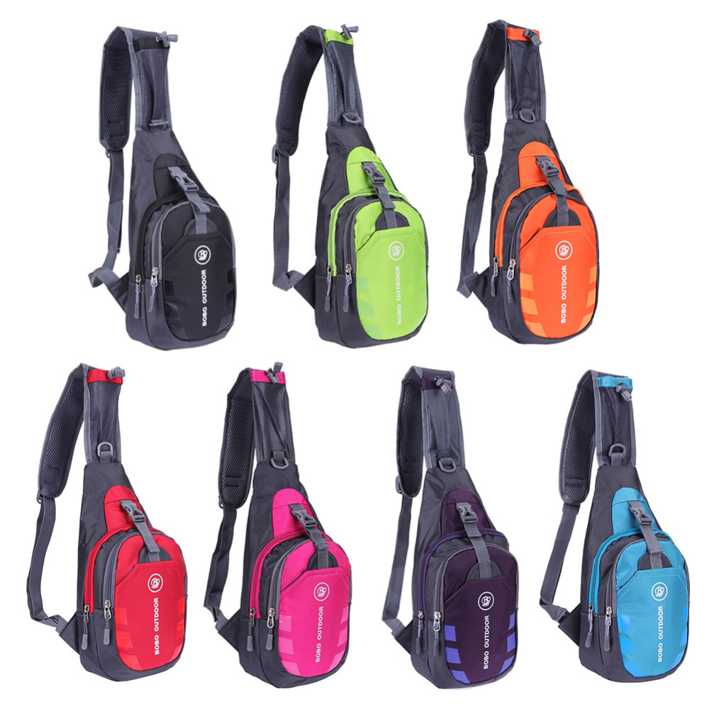 Beg dada pelbagai fungsi Fanny Unisex Oxford kalis air Sukan luar Beg Perjalanan Sukan Backpack Hiking Shoulder Pouch 7 Warna