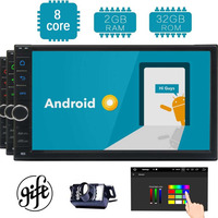 Octa Core with Bluetooth GPS Navigation Support Fastboot Wifi MirrorLink AUX USB SD Backup Camera 7 Touch Screen Double Din And