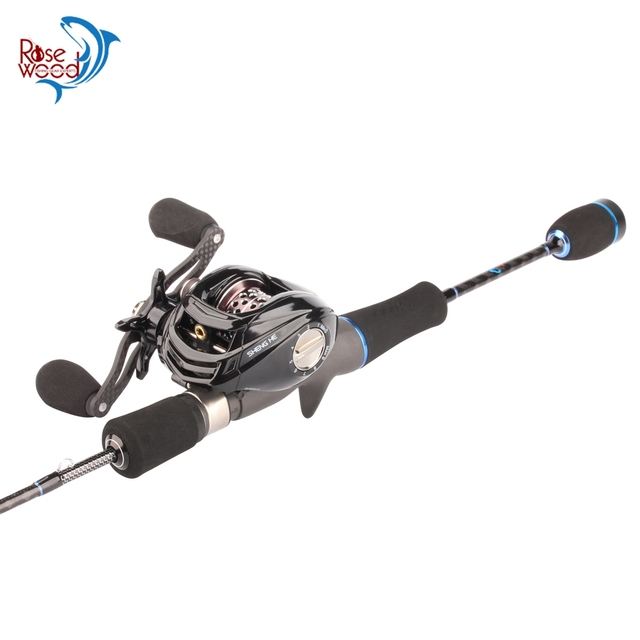 Fuji Fishing Rod Set 1.8m Trout Fishing Rod Casting Rod Combo Fast Action With BaitCasting Reel 6.3:1 17+1 Bearings + 1PC Bag
