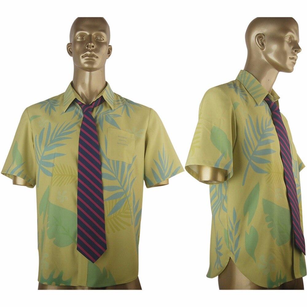 Movie Zootopia Fox Nick  Wilde Shirt Tie Halloween Comic-con Cosplay Costume Men Adults