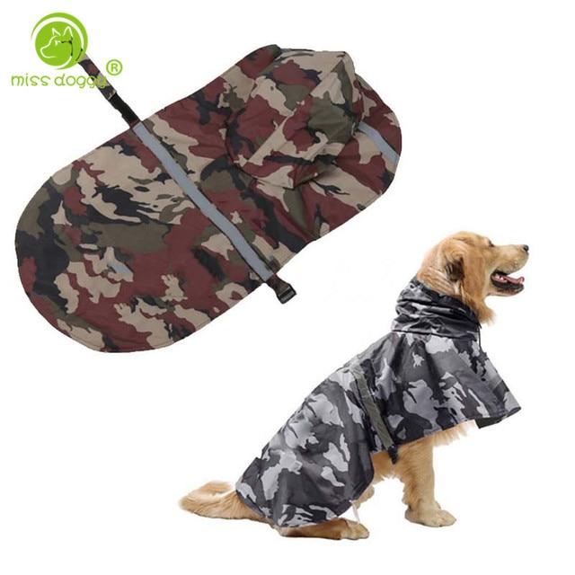 fb95fab878712 Nueva moda camuflaje perro impermeable a prueba de viento impermeable abrigo  grande pequeño perros al aire