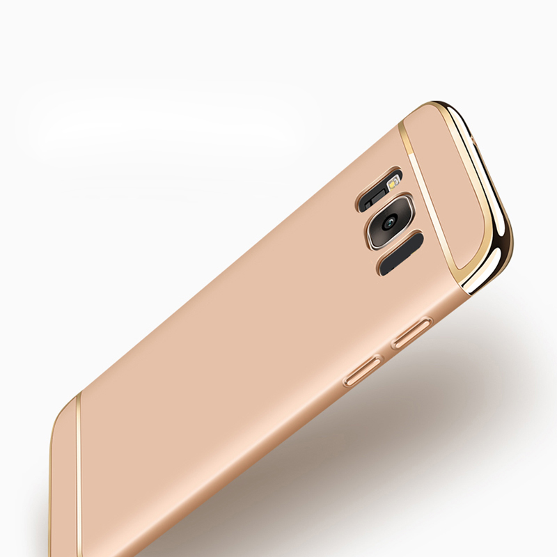 Samsung Galaxy S8 Plus Hard Shell Coque Üçün 1 Qızıl örtüklü - Cib telefonu aksesuarları və hissələri - Fotoqrafiya 5
