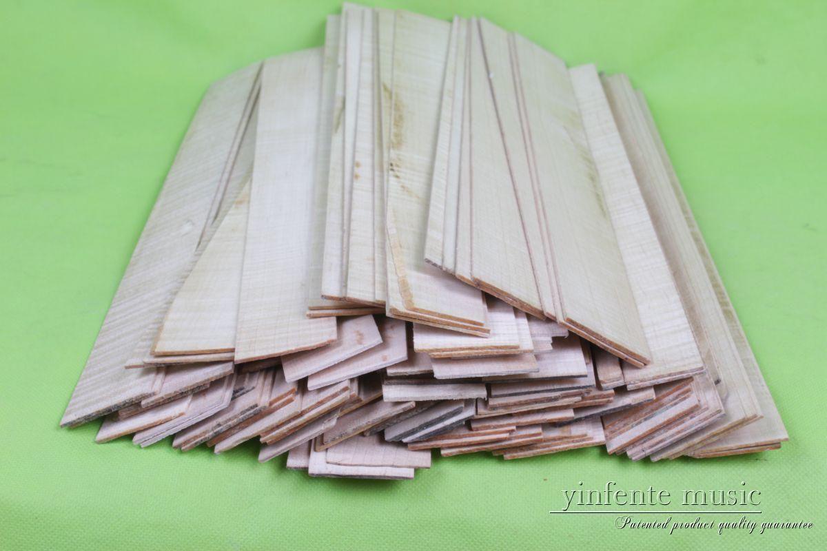 16 pièces 4/4 3/4 violon côté feuille flammé érable bois ton européen bois #443