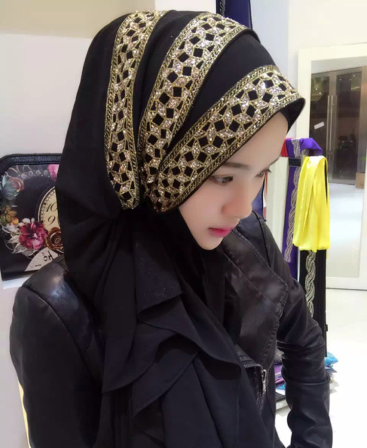 12 Colors Women Wedding Hijab   scarf   with gold bronzing, solid plain hijabs long shawls ladies muslim islamic maxi   scarf     wraps