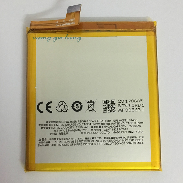 100% Original Backup new BT43C Battery 2450mAh for MEIZU M2 Note Battery In stock With Tracking number