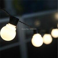 Novedad iluminación al aire libre 5 cm tamaño grande LED bola cuerda lámparas ALAMBRE NEGRO Navidad Hada Jardín de la boda guirnalda colgante
