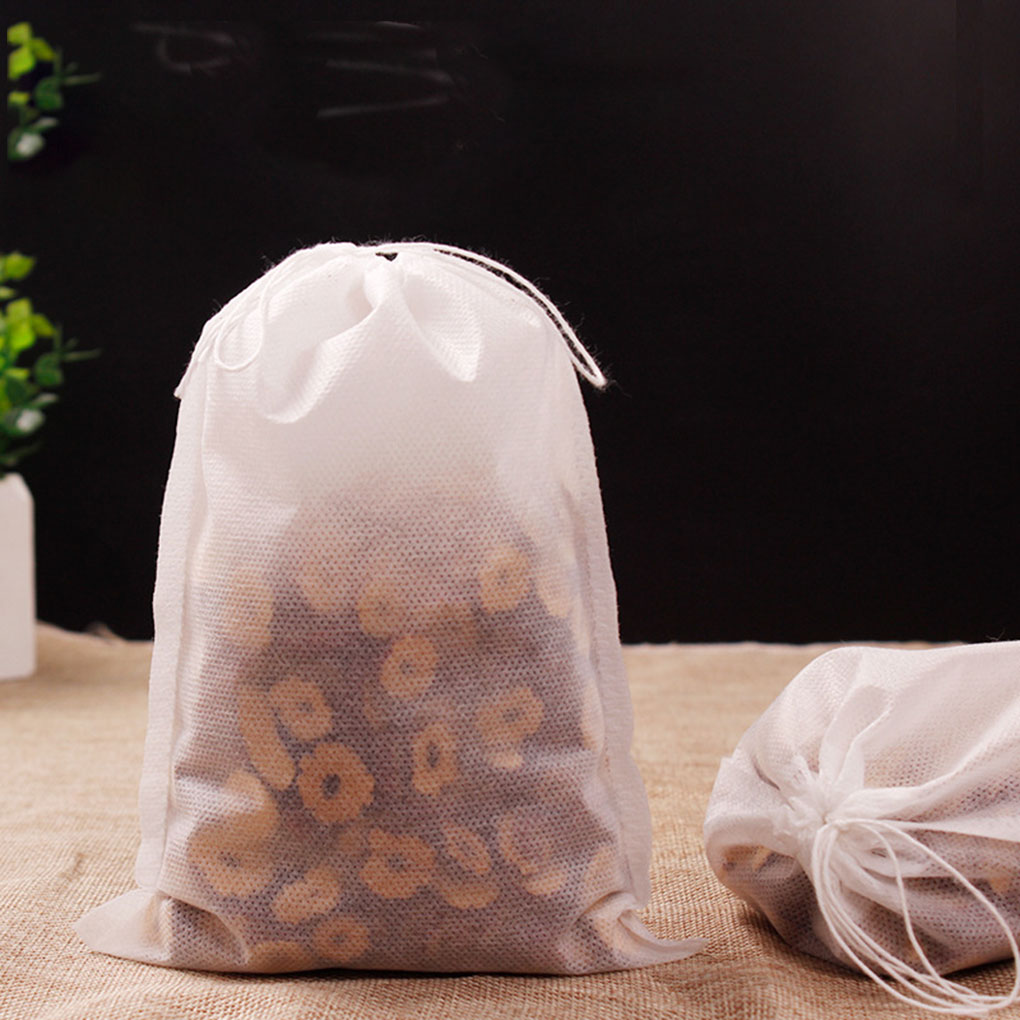 100pcs Tea Filter Bags Disposable With Drawstring For Loose Leaf Tea With Natural Unbleached Cloth