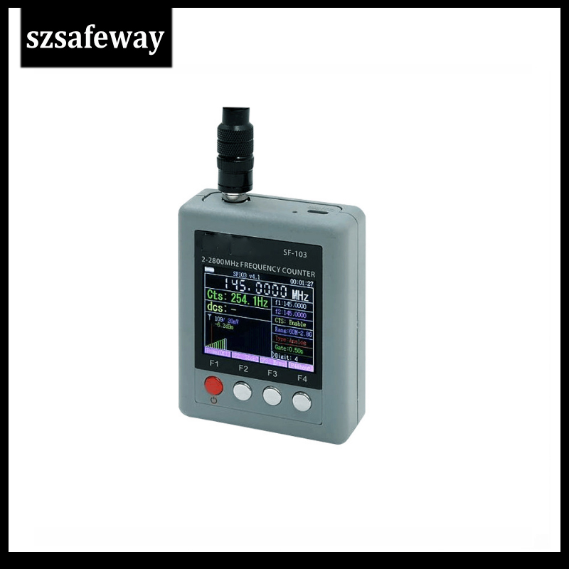SF103 2MHz-200MHz / 27MHz -2800MHz Portable Frequency Counter CTCCSS/DCS Testable, DMR Digital Signal Testable