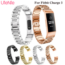 Aluminium Alloy strap For Fitbit Charge 3 frontier/classic metal wrist band smart watch wristband