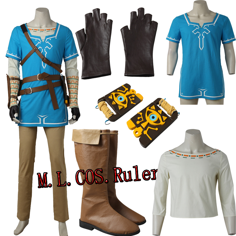 Us 162 99 Halloween Cos The Legend Of Zelda Breath Of The Wild Link Cosplay Costume Outfit Full Suit Custim Made Free Shipping In Game Costumes From