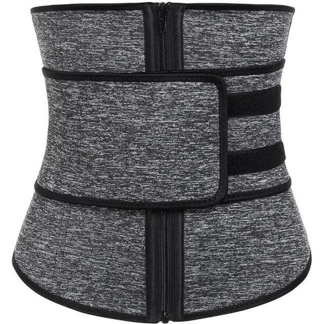 Plus Size Abdominal Belt High Compression Zipper Neoprene Waist Cincher Corset Underbust Body Fajas Sweat Waist Trainer 4