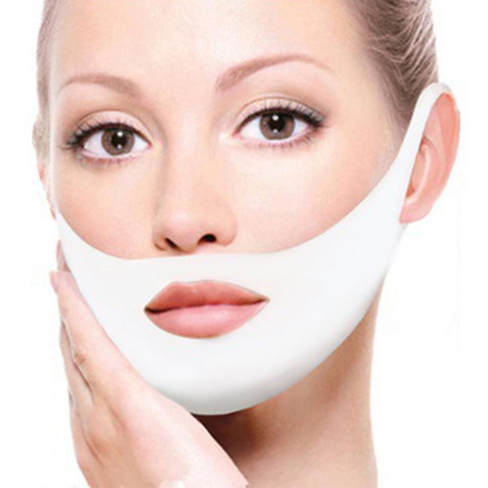 Women Face Lifting Mask Slimming Double Chin V-shape Moisturizing Skin Care Face Slimming Jade Roller Face Massager Tool Tools
