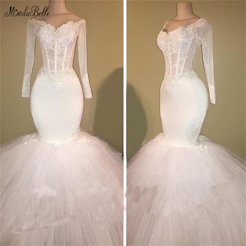 30f025a9ff0fb modabelle White/Ivory Mermaid Wedding Dress Vestidos De Novia Sirena Long Sleeve  Wedding Dress Abito Da Sposa 2019